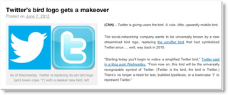 Twitter's bird logo gets makeover