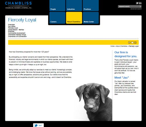 Chambliss fiercely loyal page