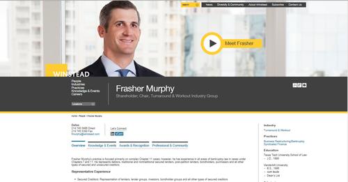 Winstead Frasher Murphy bio