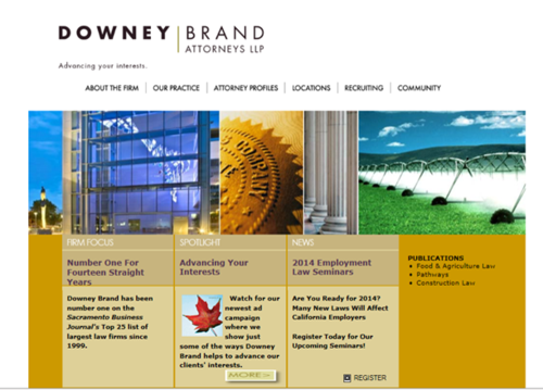 Downey Brand old site
