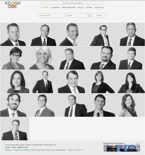 Keogh Cox lawyer landing page