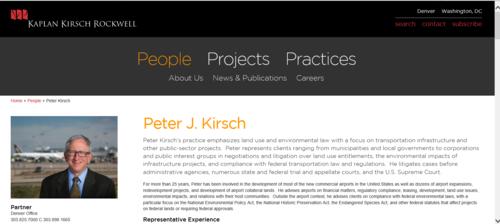 Kaplan Kirsch - Peter Kirsch bio
