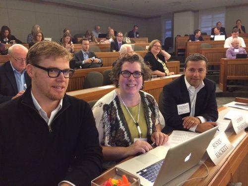 Josh Kubicki, Susan Hackett, Chris Marston - Shark Tank Judges - 2014 Futures Conference