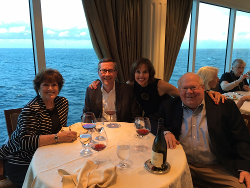 Verne and Nancy Lundquist - Dinner at Sea 2016